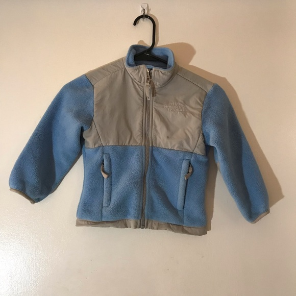 The North Face Other - The North Face Blue Grey Fleece Jacket Girls XXS